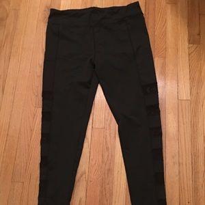 Pants - Juniors plus black workout Fishnet pants size 3X
